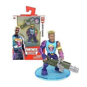 Mini Boneco Fortnite Brite Gunner E Acessórios - Fun