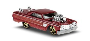 Hot Wheels 2020 Tooned '64 Chevy Impala, Red 58/250