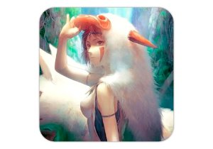 Quadro 18x18 cm - Princesa Mononoke - Studio Ghibli