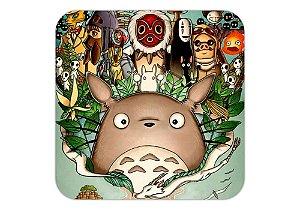 Quadro 18x18 cm - Diversos Personagens - Studio Ghibli