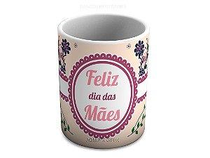 Caneca de Ceramica 325 Ml Feliz dia das Mães