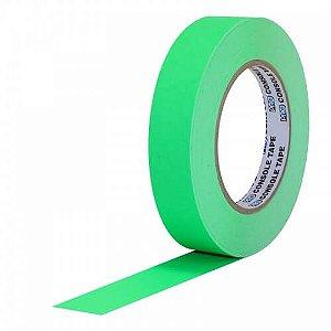 Fita de Papel Artist Tape para Console 2,5cm x 50mt Verde Flúor
