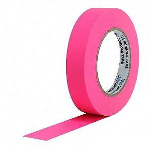 Fita de Papel Artist Tape para Console 2,5cm x 50mt Rosa Flúor