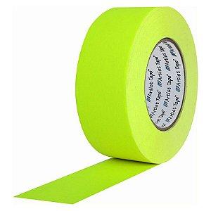 Fita de Papel Artist Tape para Console 5cm x 50mt Amarela Flúor