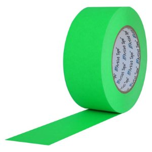 Fita de Papel Artist Tape para Console 5cm x 50mt Verde Flúor