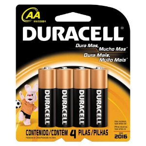 Pilha Alcalina AA Duracell - Cartela C/ 4