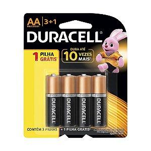Duracell Pilha Alcalina AA Leve 4 - Pague 3