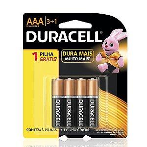 Duracell Pilha Alcalina AAA Leve 4 - Pague 3 ( Palito )