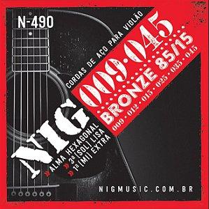 Corda Para Violão de Aço Nig 009 N-490