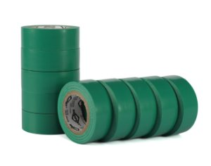 Fita Isolante Verde 19mm x 10 Mts - Kit C/10 rolos