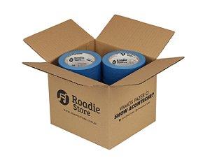 Fita Crepe Azul Roadie Store 50mm x 50m - Caixa C/ 6 Rolos