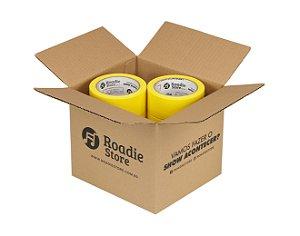 Fita Crepe Amarela Roadie Store 45mm x 40m - Caixa C/ 6 Rolos