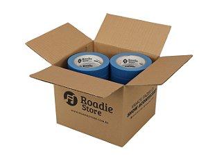 Fita Crepe Azul 25mm x 50m Roadie Store - Caixa C/ 16 Rolos