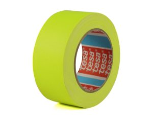 Fita Gaffer Tape Amarelo Flúor 50mm x 25mts - Tesa