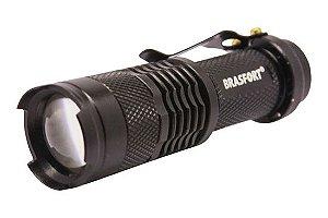 Lanterna Mini LED Alumínio C/ Zoom - Preta