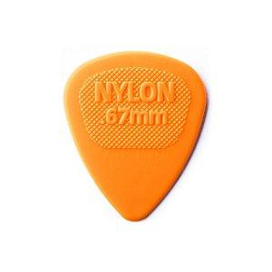 Palheta Nylon Midi 0.67 Laranja - Dunlop
