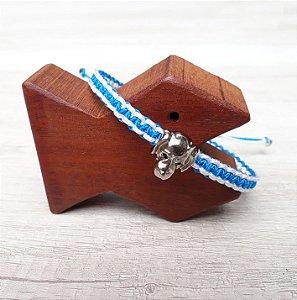 Tornozeleira Azul e Branco