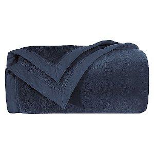 Cobertor Manta Blanket Queen 600 Azul Marinho Kacyumara