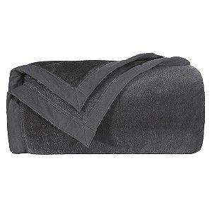 Cobertor Manta Blanket Solteiro 600 Lisa Chumbo - Kacyumara