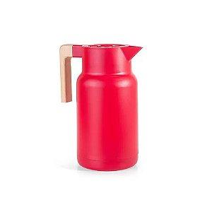 Garrafa Térmica Fashion Wood Vermelha 1Litro Termopro