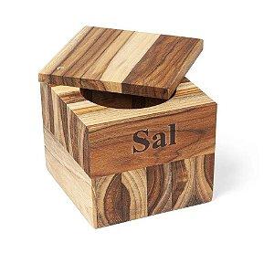 Saleiro Em Madeira Teca Premium Stolf