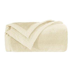 Cobertor Manta Blanket Casal 600 Marfim Kacyumara