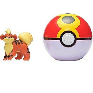 Pokemon GROWLITHE Pokebola Clip'n'go - Sunny