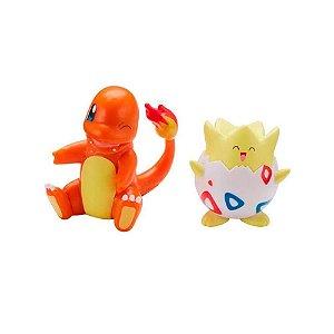 Pokemon Togepi e Charmander Figuras de Ação Wave Sunny