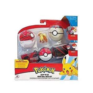 Pokemon Growlithe Cinto Porta Pokebolas - Sunny