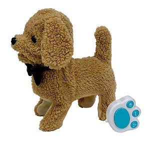 Cachorrinho Poodle Gravatinha Controle Play Full Pets Toyng
