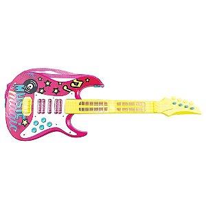 Guitarra Elétrica Infantil Show Rosa -  Toyng