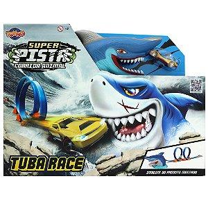 Super Pista Corrida Animal Tubarão Turbo Looping  -  Toyng