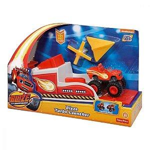 Blaze Turbo Lancador Carrinho Blaze Mattel