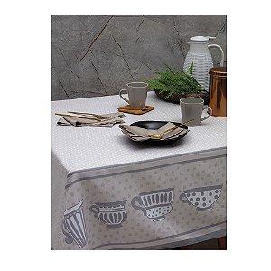 Toalha de Mesa Limpa Fácil Quadrada 1,60 cm Cups Kacyumara