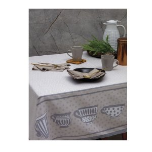 Toalha de Mesa Limpa Fácil Cups 1,60 x 3,00 cm Kacyumara