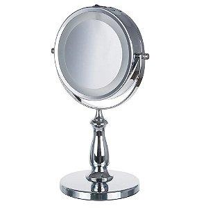 Espelho De Aumento  Dupla Face Led Bancada Uny