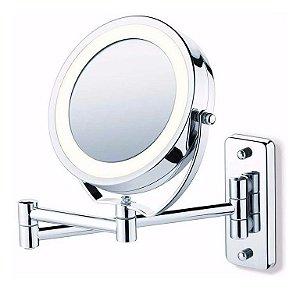 Espelho De Parede com Aumento E Luz De Led