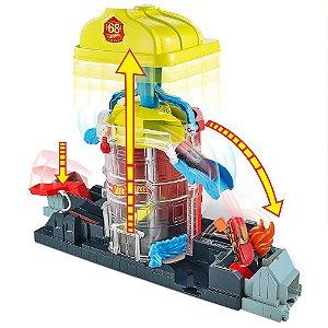Pista Super Quartel de Bombeiros Hot Wheels - Mattel