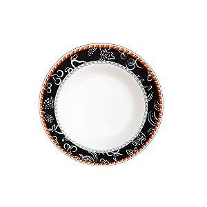 Jogo De Pratos Fundos Fruits Porcelana 06 Peças