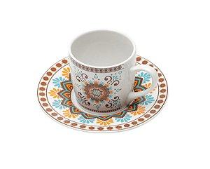 Jogo Xícaras Café / Cafezinho Hype Porcelana 90 ml