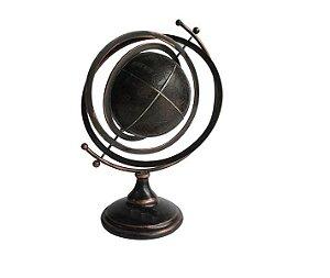 Globo Terrestre Decorativo em Courino 50 cm