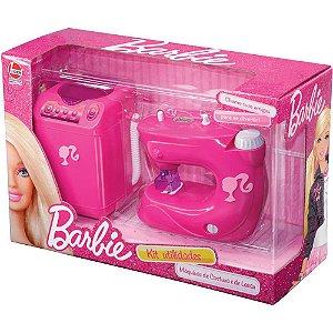 Kit Mini Utilidades Máquina de Lavar e Costura Barbie