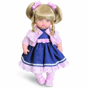 Boneca Addara Vestido Poá Chanel Anjo