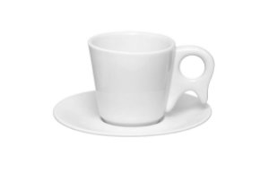 Kit c/  04 Xícaras Chá / Café C/ Leite 200 Ml Gênova