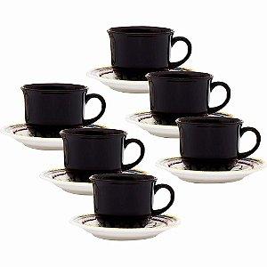 Conjunto Xícaras Café / Cafezinho Luiza Oxford - 06 Unidades