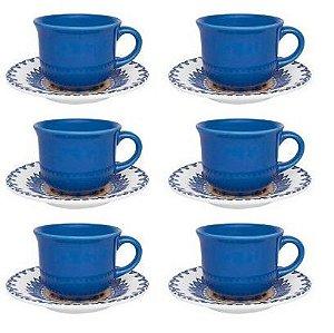 Jogo Xícaras Chá / Café Com Leite 200 Ml La Carreta Oxford