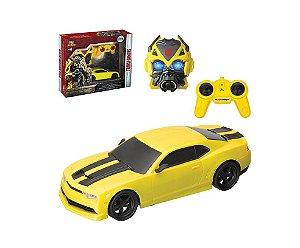 Bumblebee Carro Controle Remoto com Máscara Transformers - Art Brink