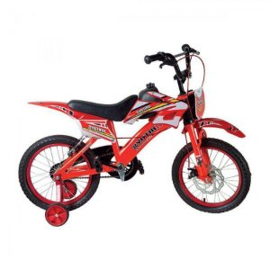 Bicicleta Bike Moto Cross Aro 16 Vermelha