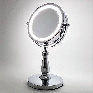 Espelho Giratório de Bancada com Led e Auemnto
