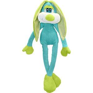 Coelho Pernão Azul Pelúcia - Buba Toys